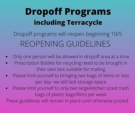 Dropoff Programs including Terracycle.pn
