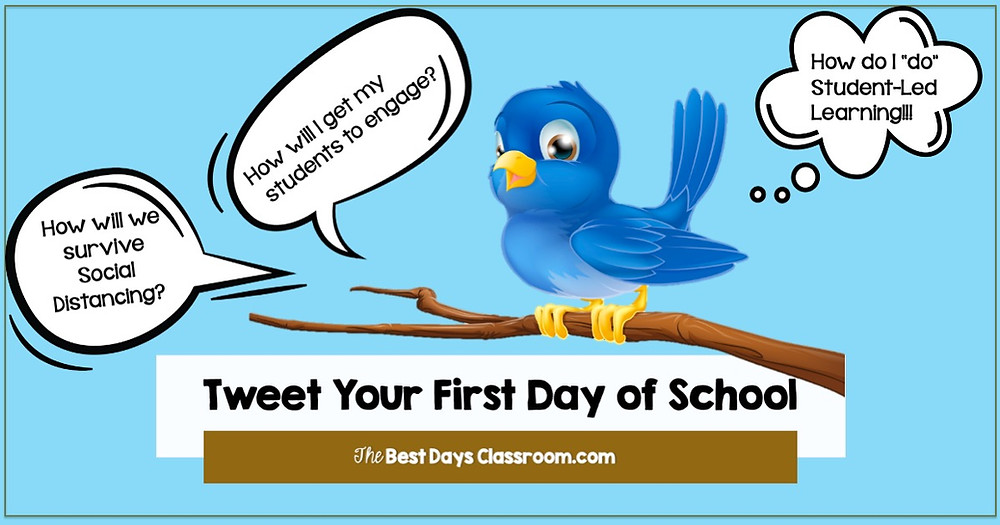 Tweet Your First Day of School to help with Social Distancing Needs and Ideas.