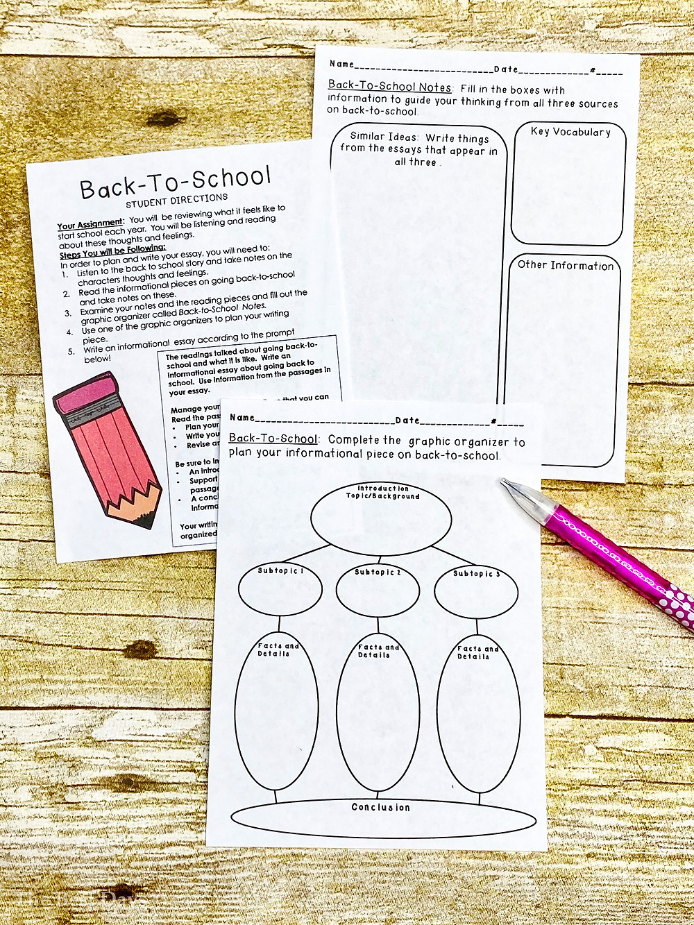 Teachers, do you love FREEBIES?  Head on over and grab this amazing FREE Back -to-School Writing Pre-test!  Easy to use - just print and GO!  Include a favorite Back2School book as the third reading passage!  Two passages are included in this FREE resource!