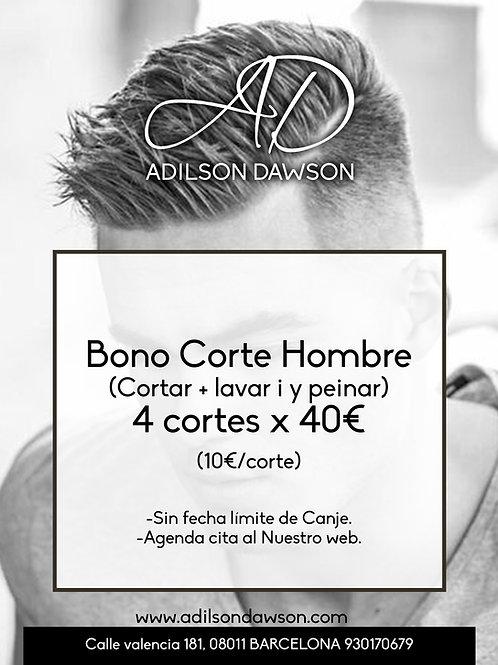 Bono 4 cortes hombre