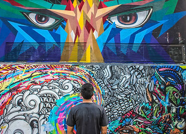 Graffiti-Augen