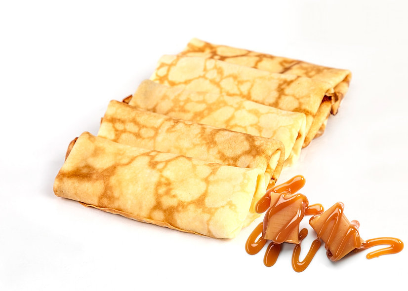 Caramel Cheese Blintzes