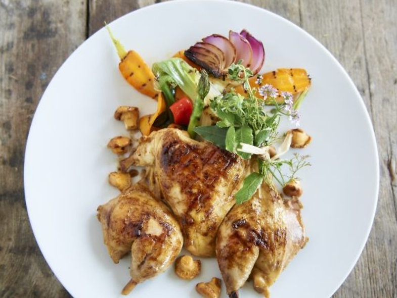 Balsamic Grilled Baby Chicken