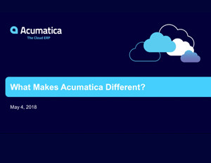 What Makes Acumatica Different?