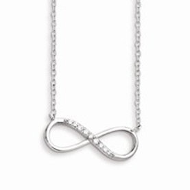 Sterling Silver with CZ Infinity Symbol