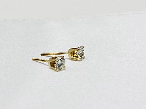 0.72 Carat Solitaire Earrings