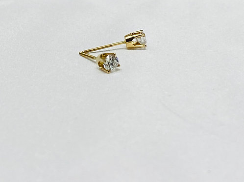 0.54 Carat Solitaire Earrings