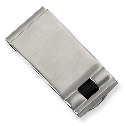 Stainless Steel Brushed Enameled Money Clip