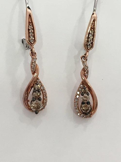 10'k Rose Gold, Earring