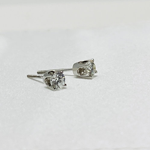 0.52 Carat Solitaire Earrings