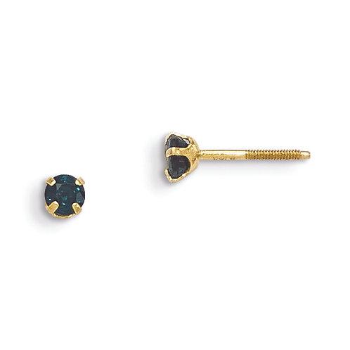 Single Stone Stud Earrings