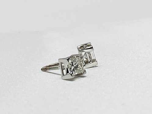 1.03 cts Solitaire Earrings