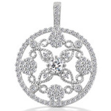 14kGold Diamond  Circle pendant, call for Pricing
