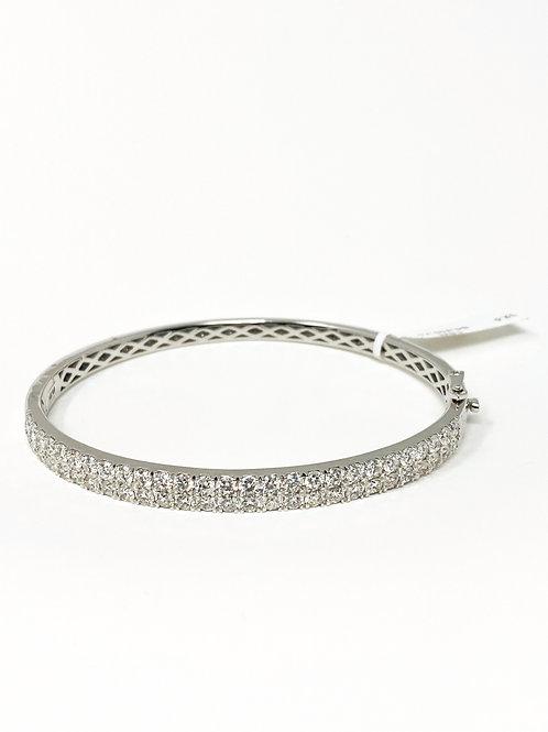 DIFFBG000035w4w, 14K White Gold Diamond Bangle