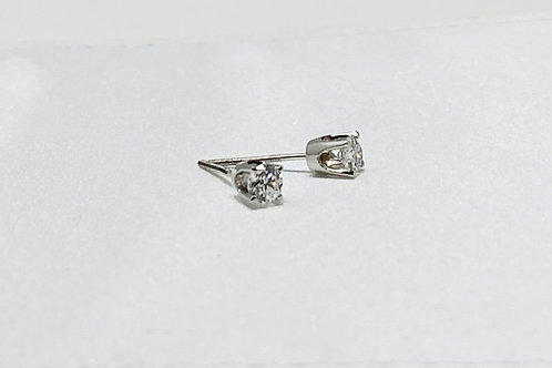 0.48 Carat Solitaire Earrings
