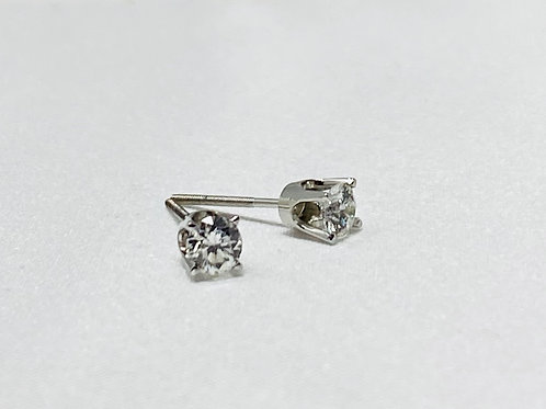 0.49 Carat Solitaire Earrings
