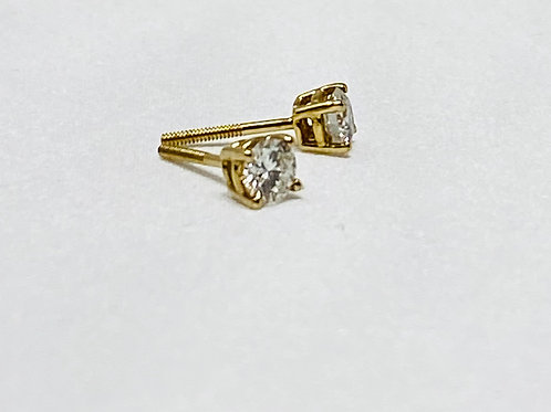 0.55 Carat Solitaire Earrings
