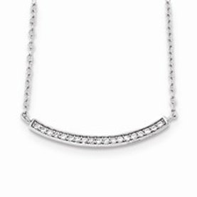 Sterling Silver CZ Fancy Necklace