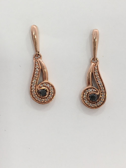 10'k Rose Gold Earring