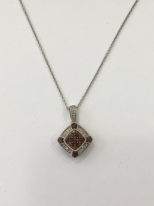 Sterling Silver and Diamond, Pendant