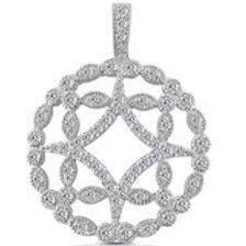 14kGold ,Diamond Circle pendant