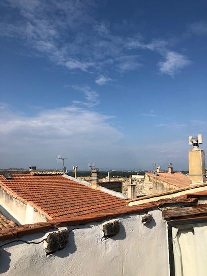 Vue sur les toits de Barbentane