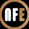 NFE logo circle white bronze uden tekst.