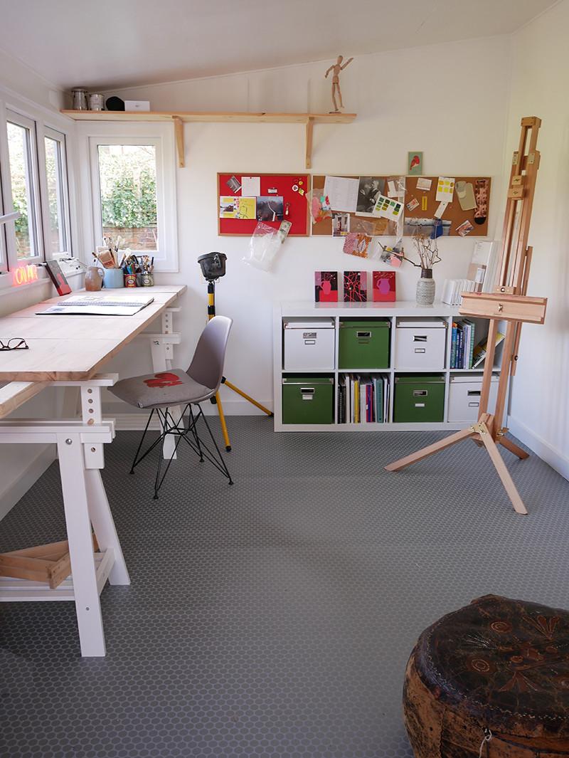 Art studio garden studio Sue Asbury