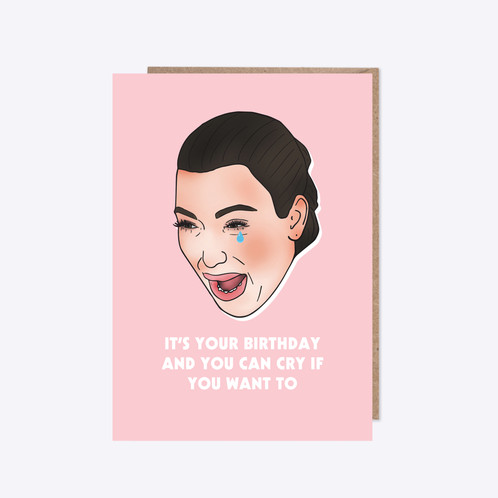Kim Kardashian Birthday Card