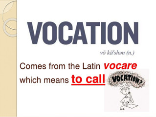 Vocation:  What Will I Do With My Life?