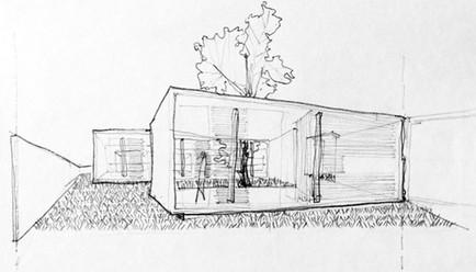 Sketch by Arq. Eugenio Ramírez