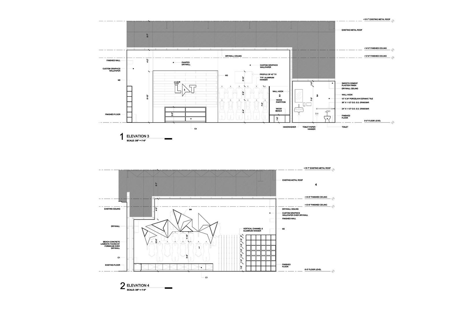 Interior Elevations 3 & 4