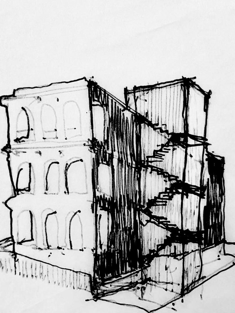 Sketch by Arch. Ramírez