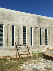 Main facade under construction