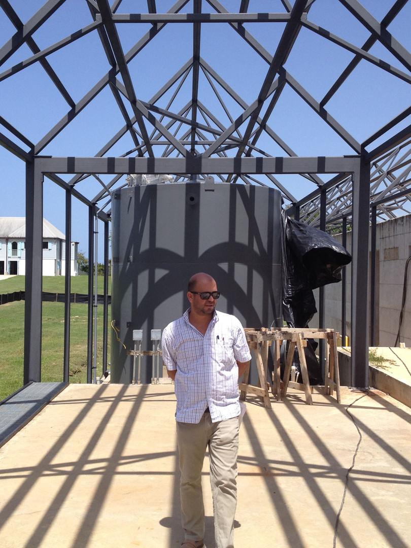 Arq. Ramírez at the construction site.