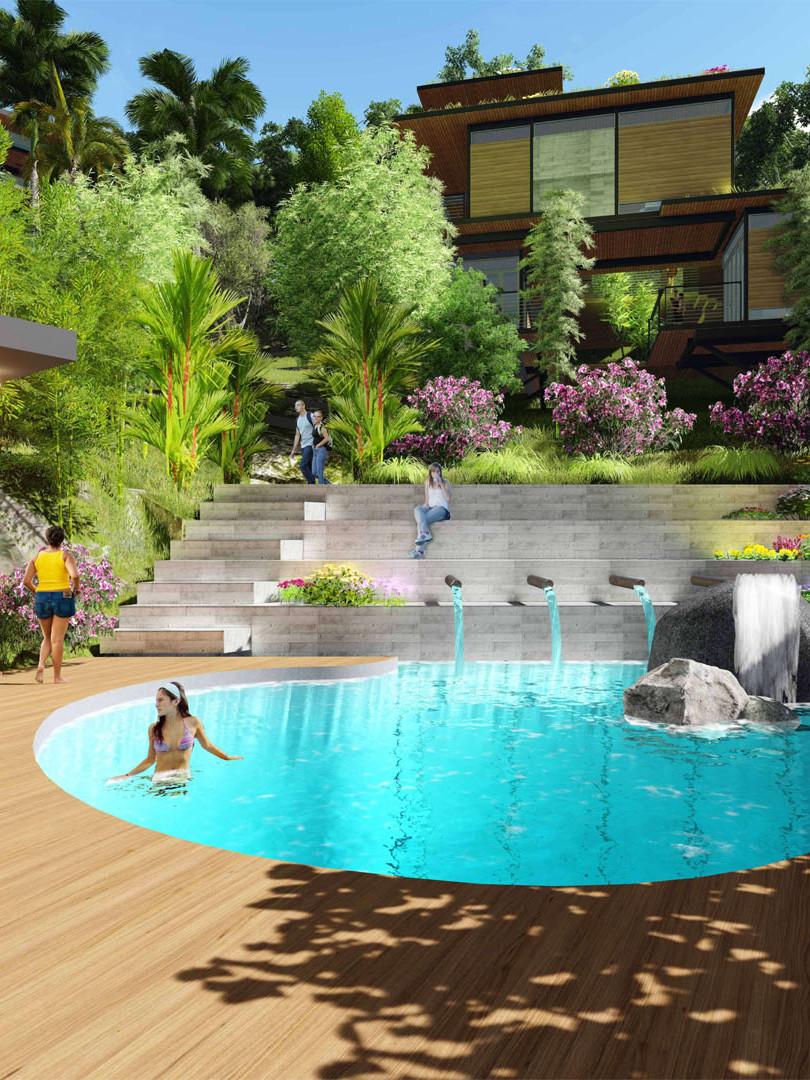 Pool and Minerva's Garden