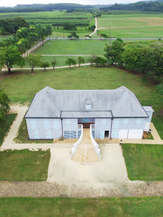 Bird's eye view of the old manor house.