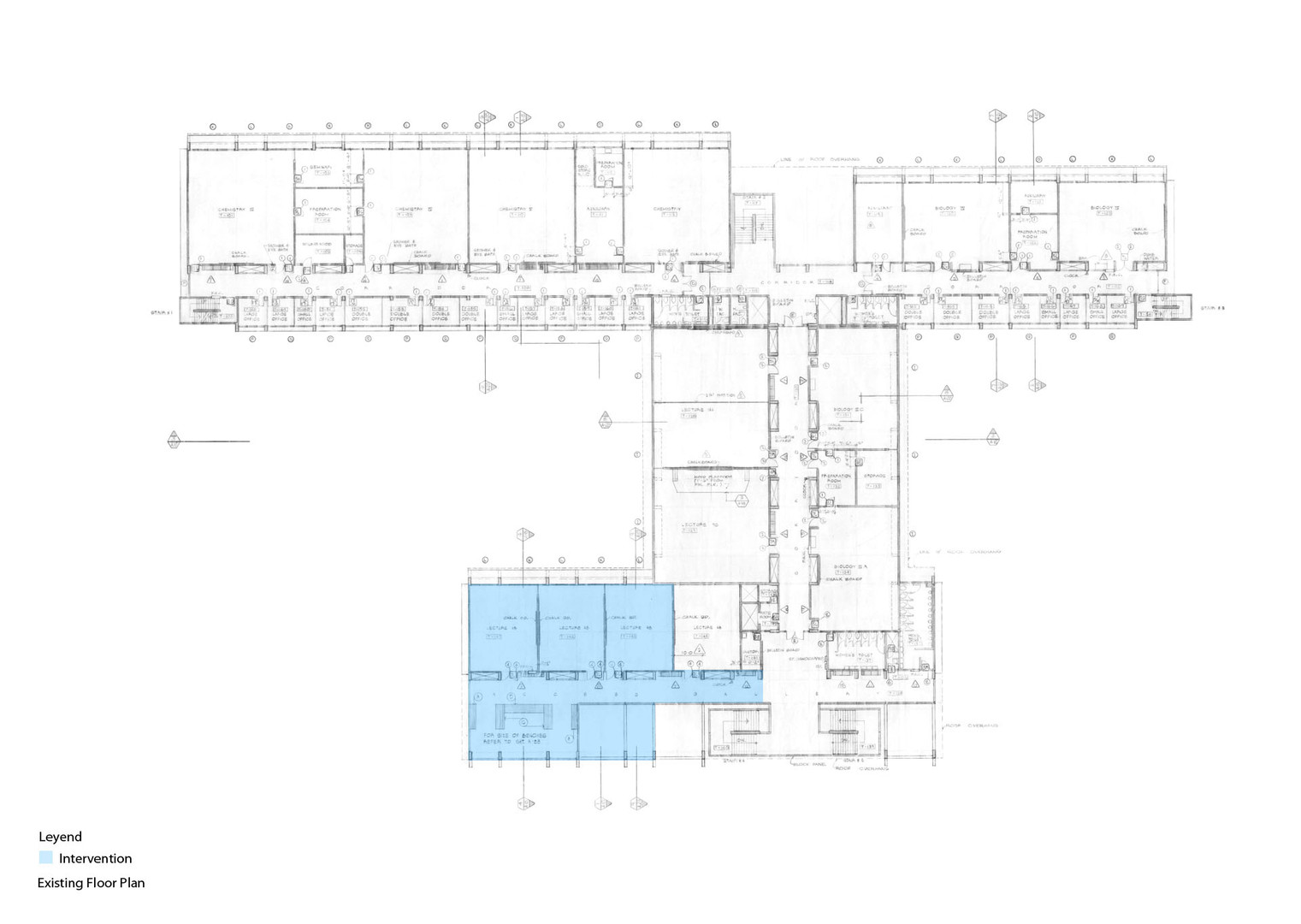 Existing Floor Plan and Intervention