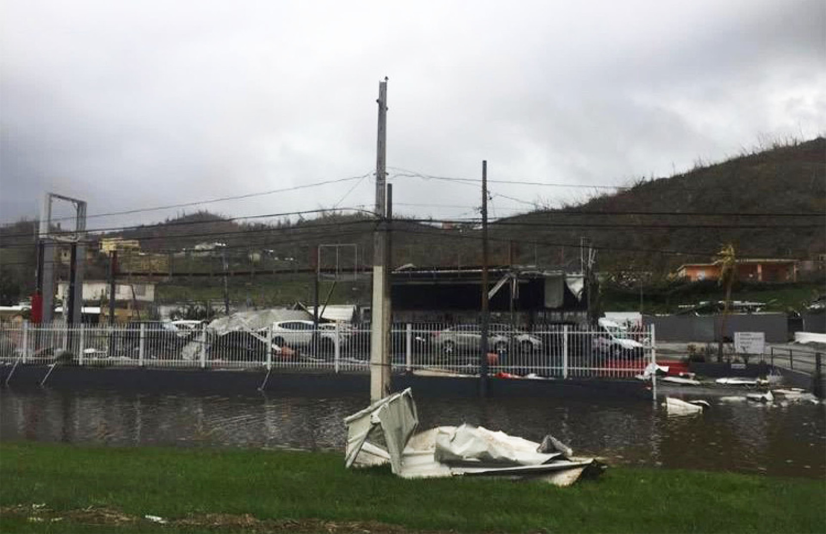 Damages caused by hurricane María