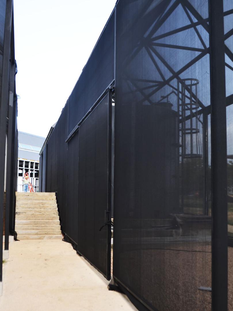 Greenhouse entrance and corridor.