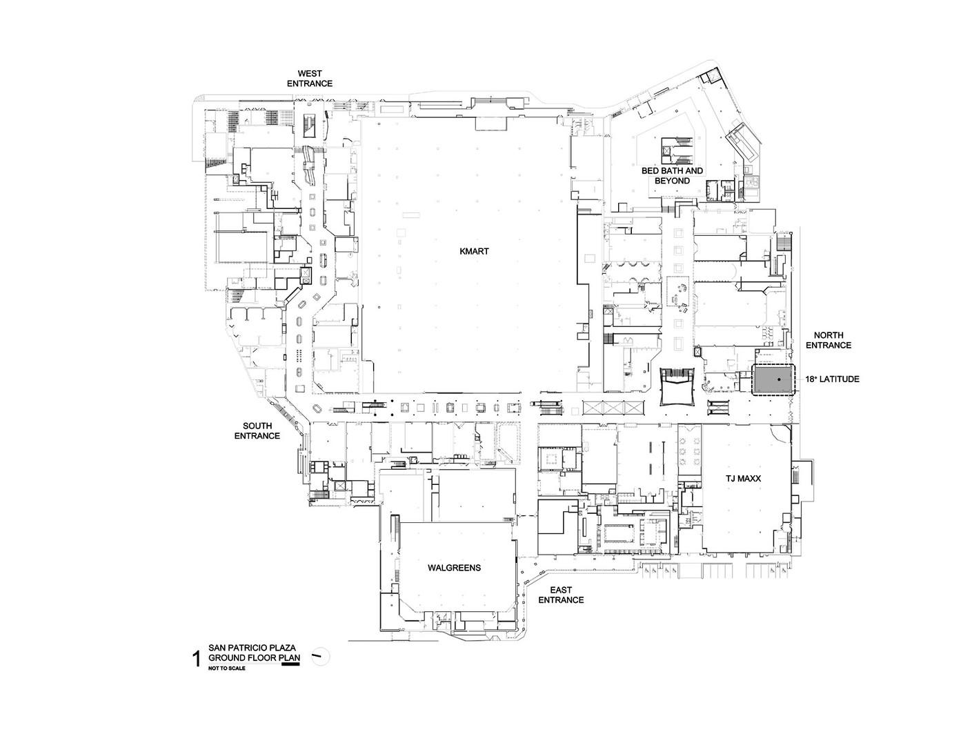 San Patricio Plaza Ground Floor Plan