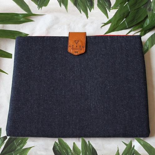 Funda Laptop - Denim Red