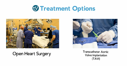 Two Treatment Options: TAVI and Surgery