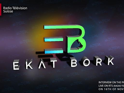 Ekat Bork live on RTS (Radio Television Suisse) in the radio show (Paradiso)