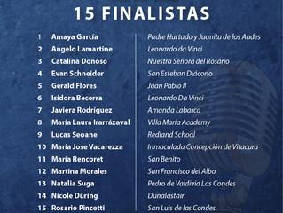 Los 15 finalistas Afina 2019