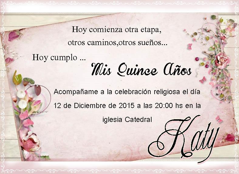 Invitación 15 Años