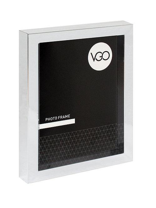 Portarretratos plástico metalizado tipo box 30 x 40 cm