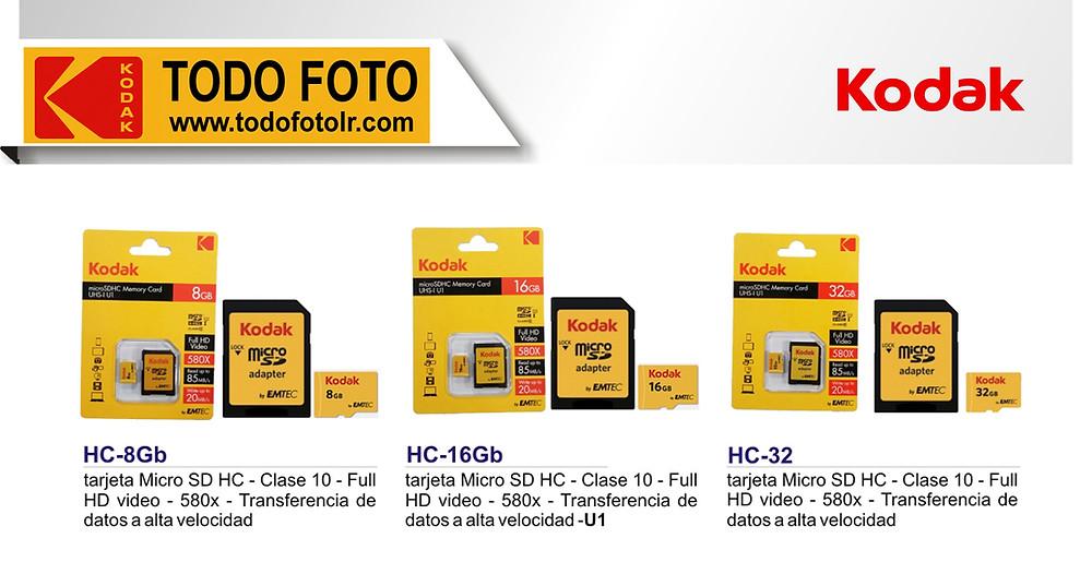 Memorias Micro SD kodak