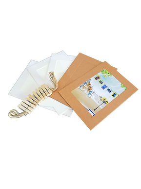 kit Porta fotos broches 4.8x6.5 Papel