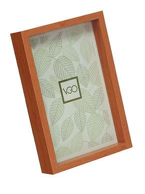 Portarretratos Plástico Simil Madera con Profundidad 20 x 30 cm